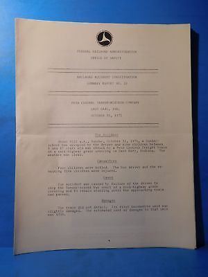 Railroad Accident Investigation Report #20 Penn Central Transport Co 1971