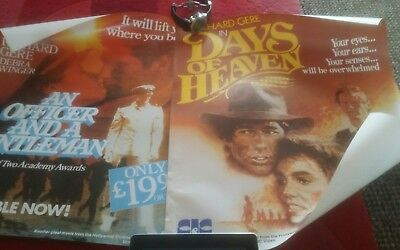 vintage video shop posters - including pre cert film posters 1980s