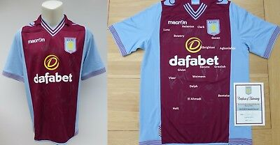 2013-14 Aston Villa Home Shirt Squad Signed with Official COA (11593)