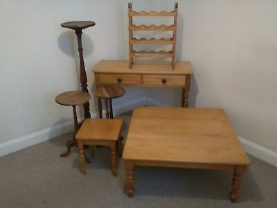 Collection of Rare Solid Yellow & Stink Wood Tables