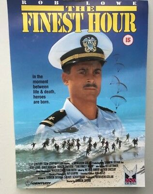 THE FINEST HOUR - GENUINE ORIGINAL VIDEO POSTER - FROM THE 1980s