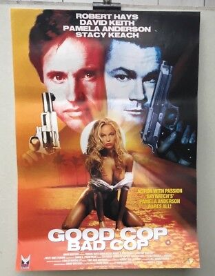 GOOD COP BAD COP - GENUINE ORIGINAL VIDEO POSTER - FROM THE 1980s