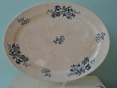 Antique Victorian Serving tray large ceramic fine china dish bowl tableware blue