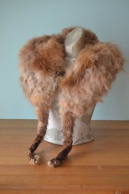 Vintage women's / ladies  fox fur shawl  tan/caramel colour