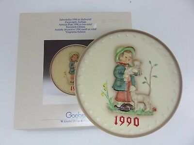 Hummel 1990 Annual Collector's Plate 20th In Series With Box Made In Germany