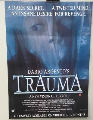 TRAUMA - GENUINE ORIGINAL VIDEO POSTER - FROM THE 1980s