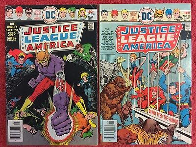 Justice League of America (1st) 130 131 DC RUN of 2 1976 VF Pasko Conway Chan