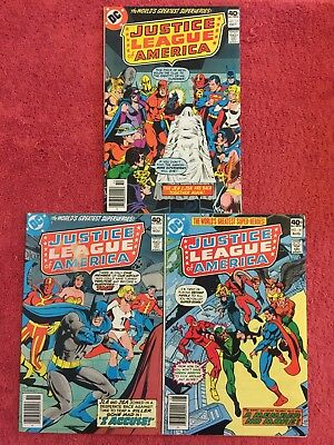Justice League of America (1st) 171 172 181 DC LOT of 3 1979 VF Conway Andru