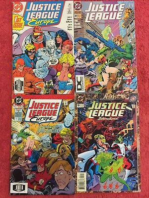 Justice League Europe1 67 Annual 1 5 DC LOT of 4 1989 VF+ Giffen DeMatteis Sears