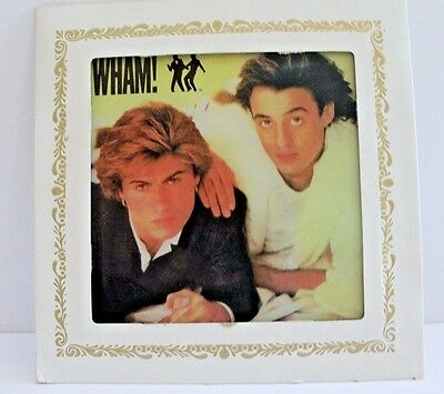 "Carnival Mirror 80's Wham! George Michael Andrew Ridgeley 6x6"" Gay Int. Vtg"
