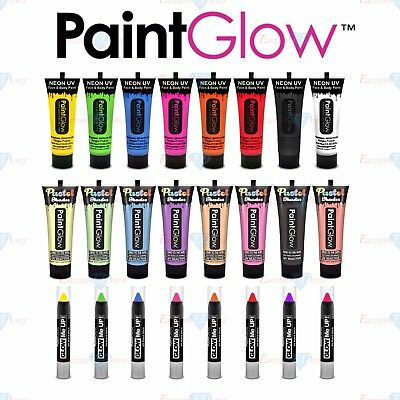 Paint Glow Neon & Pastel UV Face Body Paint Make Up Body Art Festival Stunning