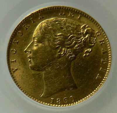 1860 AEF Queen Victoria Gold Sovereign Large 0 Type  ☆☆ CGS 2nd Finest Graded ☆☆