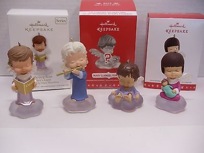 ~Hallmark Lot of 4 *MARY'S ANGELS* Series Ornaments