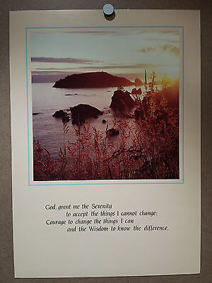Argus Communications Serenity Poster Religious Faith Motivational Vintage 1980s