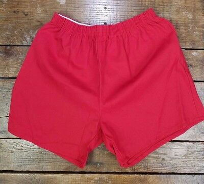 Athletic Wear Gym PE Shorts DEADSTOCK NWOT RED Made in USA 80's 90's High Waist