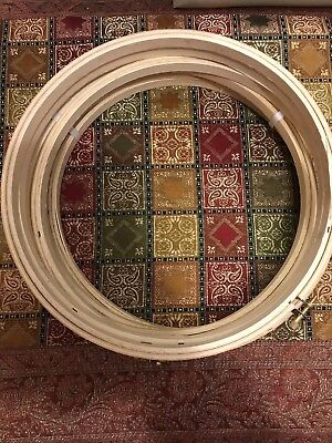 """Westex Wooden Embroidery Cross Stitch Hoop Ring Round 9"""" Lot of 6"""
