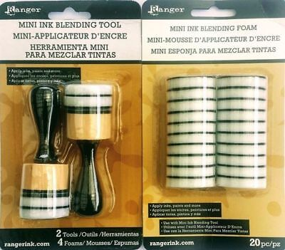 1 x Ranger Mini Ink Blending Tool - PLUS - 1 x Mini Ink Blending Foam - Round
