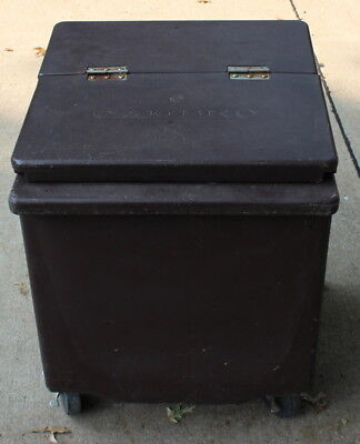 Used Cambro Ic225P Ice Bin/caddy On Wheels Mobile Restaurant With Lid