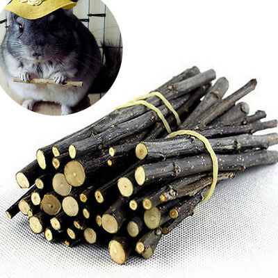 50g Apple Wood Chew Sticks Twigs for Small Pets Rabbit Hamster Guinea Toy