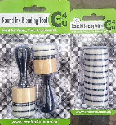 Crafts4U Round Ink Blending Tool PLUS Round Ink Blending Refills