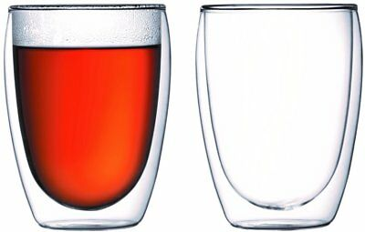 Bodum PAVINA Double Walled Thermo Glasses, 0.35 L, 12 oz, Pair