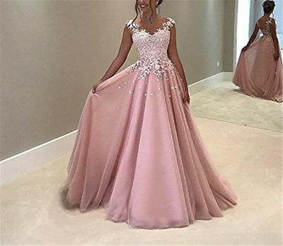 Hot Prom Dresses Long Wedding Bridesmaid Formal Party Dress Evening Ball Gown