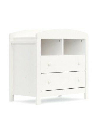 White Changing Table With Drawers - Mothercare Padstow range