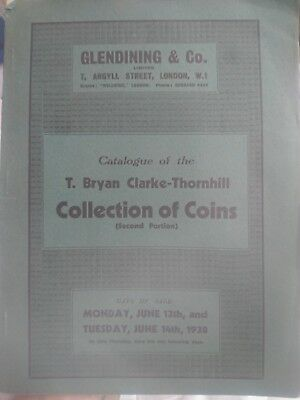 Glendining 13&14/05/1938 T. Bryan Clarke-Thornhill 2nd Portion Catalogue Coin
