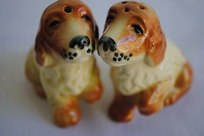 Vintage Pair Darbyshire Cocker Spaniel Salt & Pepper Shakers Dog