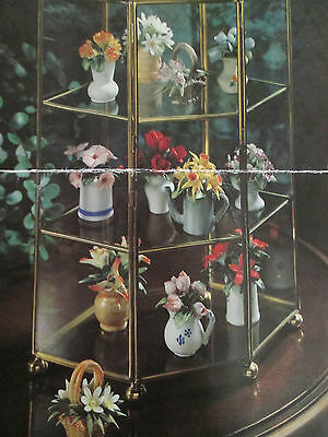 PORCELAIN FLOWER COLLECTION,'The Flowers of the Year',12 MINIATURES. Decorative.