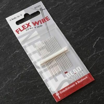 Flex Wire Beading Needles Size 10 for Jewellery Making