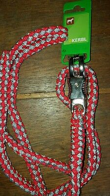 Kerbl Hippo Lead Rope With Panic-Hook red and grey