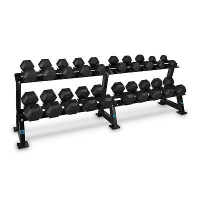 Capital Sports Hexbell Rack Set 20 Kurz Hanteln 10 Paar Dumbbell Gewichte 5-30Kg