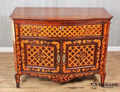 Earty 19th Century Dutch Marquetry Neo-Classical Satinwood Inlaid Klapbuffet