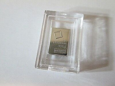 1 gram Valcambi Platinum Fractional Bar - No Assay Card (Encapsulated)