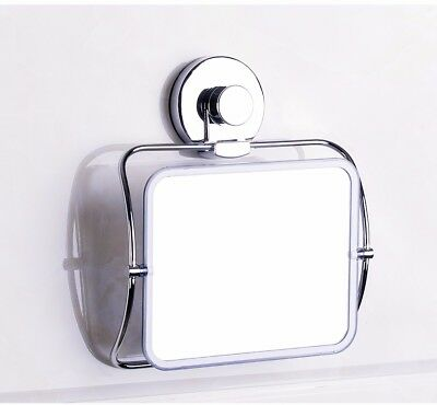 Wall Suction Mirror Shower Shaving Bathroom Strong Travel Makeup Cosmetic Cup