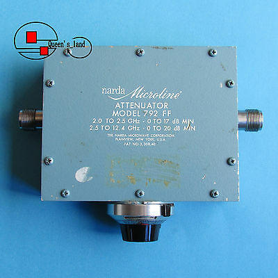 narda 792FF 2-12.4GHz 20dB 10W Type-N Continuously Broadband Variable Attenuator