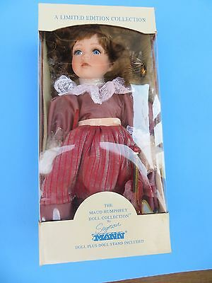 """Maud Humphrey Porcelain Doll Collection by Seymour Mann 12"""" Tall w/Stand NRB"""