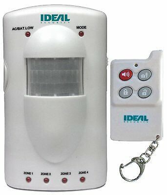 Ideal Security SK617 Portable 4-Zone Motion Sensor Alarm
