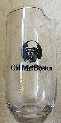 Old Mr. Boston Glass With Black Graphics