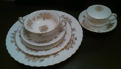 Minton Marlow Gold 7 Piece Place Setting
