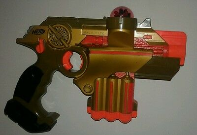 Nerf LAZER TAG Phoenix LTX Orange and Gold Unit Tested Working