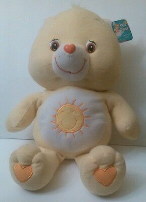 Collectible Care Bears Funshine Bear 2003 Plush Yellow Sun 26 Inches with Tags
