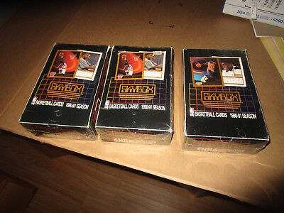 1990-91 Skybox Basketball Factory Sealed Card Box Lot (3) 36 packs per box