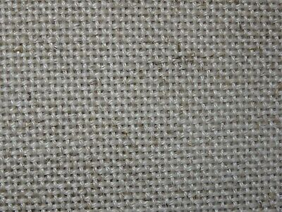 "ZWEIGART 'FLOBA' 18 COUNT EVENWEAVE FABRIC 'NATURAL' - 21"" X 20"" (53cms X 51cms)"