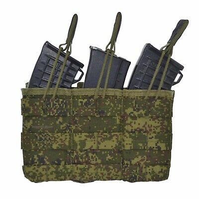 SPOSN SSO Molle Fast Pouch For 3 AK MAGS EMR Digital Flora Original Russian