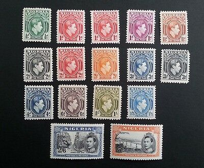 NIGERIA GEORGE VI 1938 mounted mint stamps