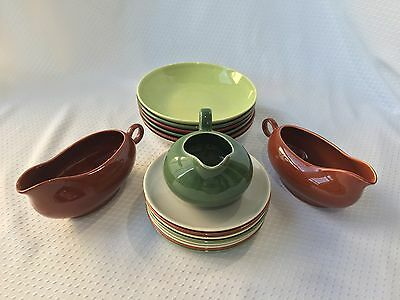 Hollywood Dinnerware California Pottery 17 pieces
