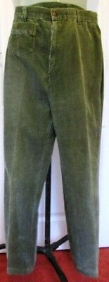 Retro Vintage Green Corduroy Trousers