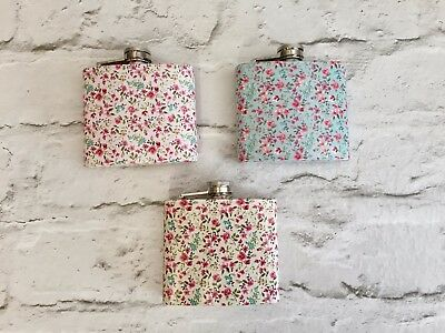 WILD & FREE FLORAL STAINLESS STEEL 6oz  HIP FLASK - PERFECT  GIFT